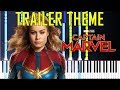 CAPTAIN MARVEL - Trailer Theme (Luminous and Unstoppable - Immediate Music) [Synthesia Piano Cover]