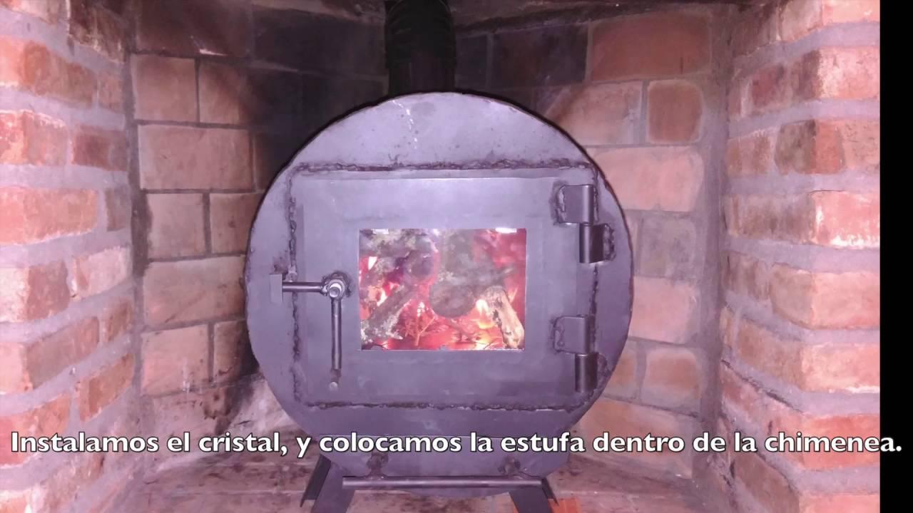 Como hacer una estufa de le a casera para el hueco de una - Como colocar una chimenea de lena ...