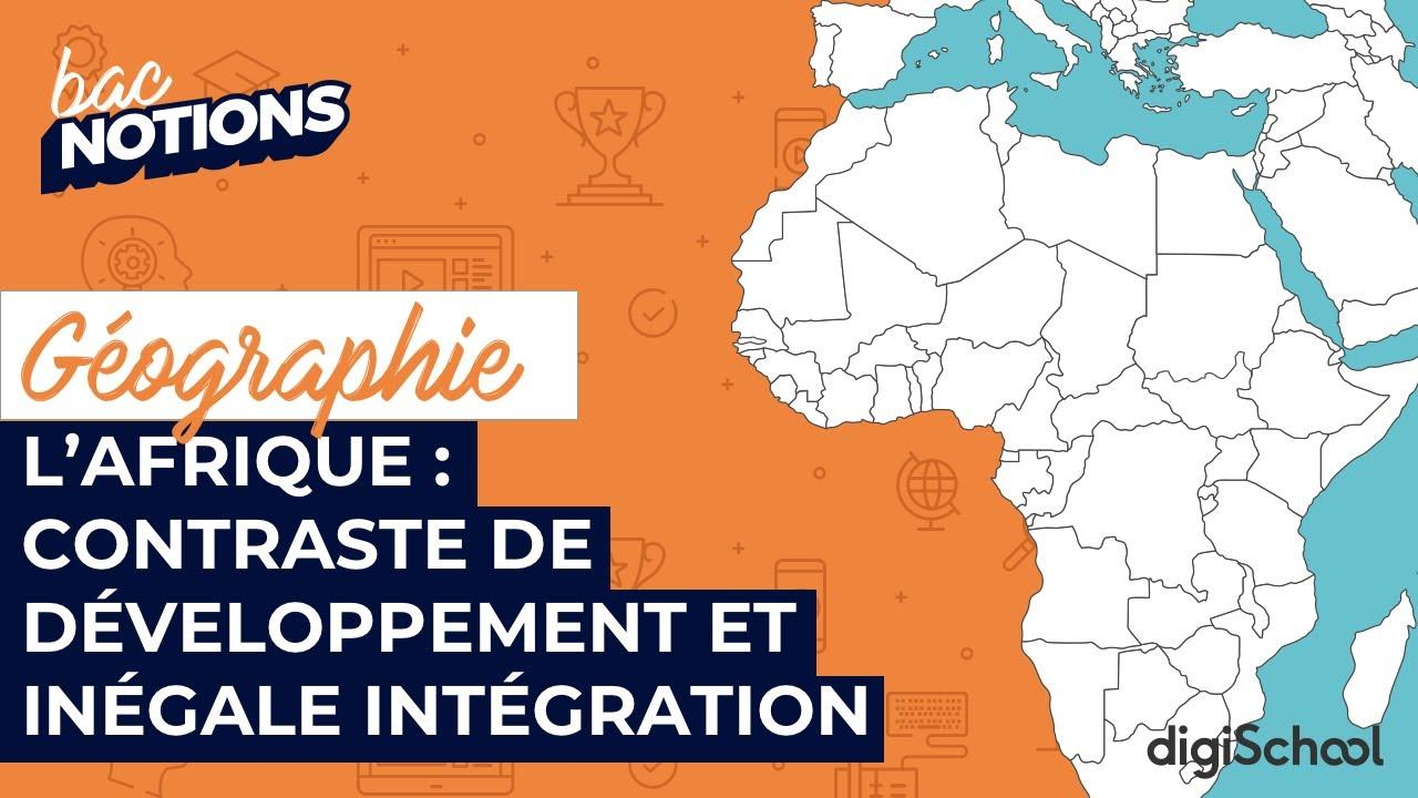 Carte Afrique Terminale Es.Croquis De Geographie Le Continent Africain Contrastes De Developpement Et Inegale Integration