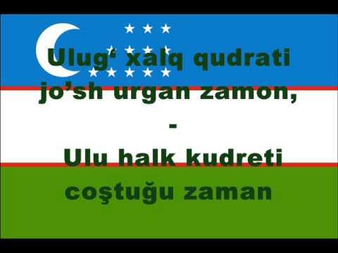 Alt Yazılı Özbekistan Cumhuriyeti Millî Marşı Türkiye Türkçesi ve Özbek Türkçesi