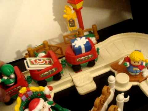Fisher Price Little People Christmas Train Set - 2005 - Musical ...