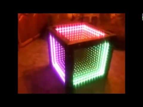 Infinity Mirror Table Youtube