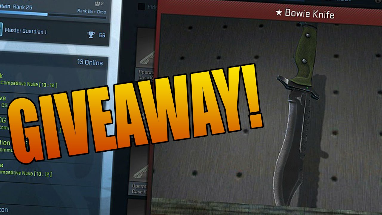 Csgo knives giveaways
