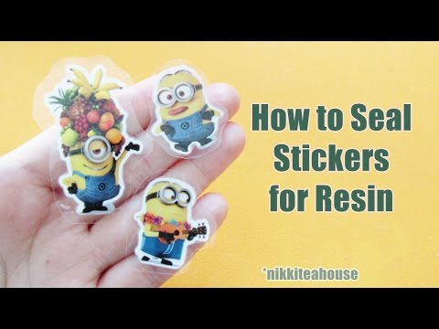 How to Seal Stickers for Resin