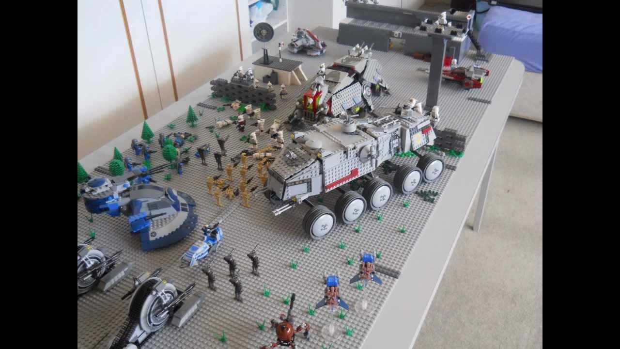 Lego Star Wars Clone Base Battle Moc Youtube