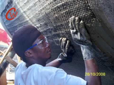custom welding ferrocement boat repair video
