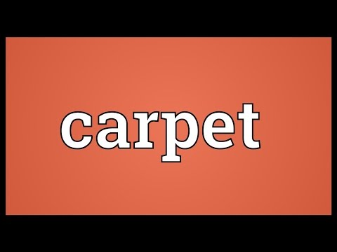 Carpet Meaning