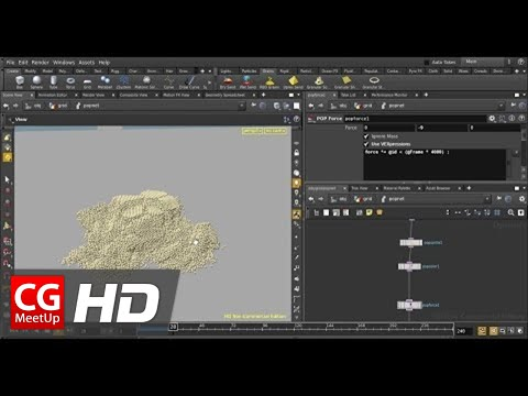 "CGI Houdini Tutorial HD: ""Introduction to the POP Grains Solver"" by Rohan Dalvi"
