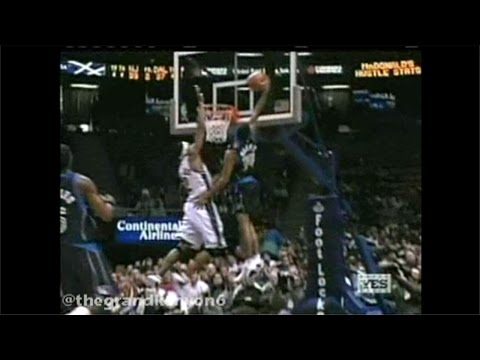 Rookie Devin Harris vicious transition throwdown on Rodney Buford