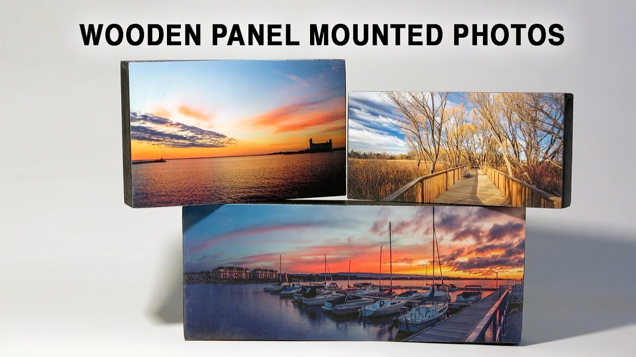how to mount photo prints to wooden panels youtube