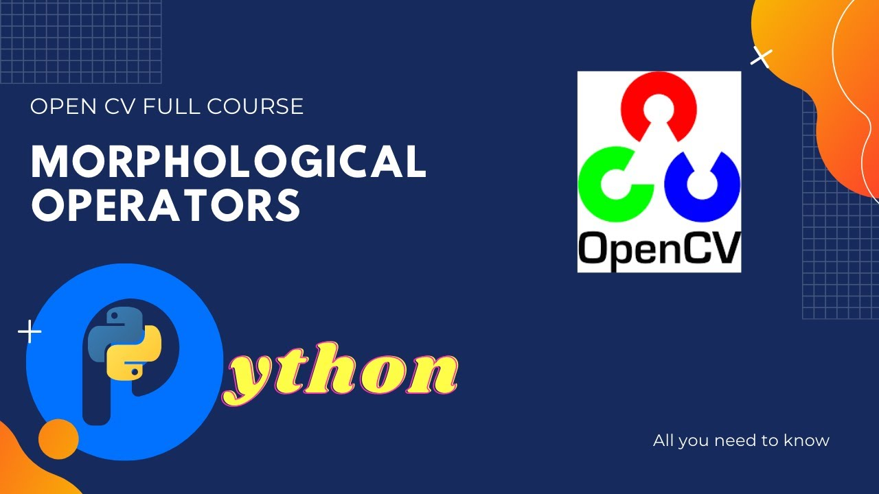Morphological Operators   Image Preprocessing   Hands-on Tutorial OpenCV