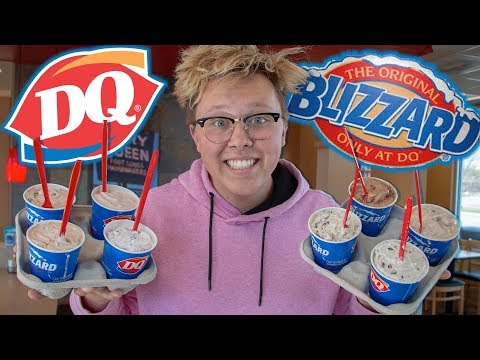 TRYING EVERY BLIZZARD AT DAIRY QUEEN!!! | Food Dude Ep.34