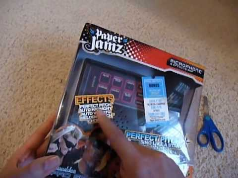 Paper Jamz Microphone and Amplifier unboxing: