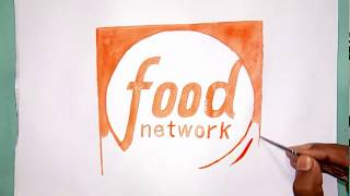 How to draw the Food Network channel logo