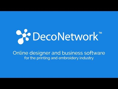 DecoNetwork online designer and business software for printing and embroidery