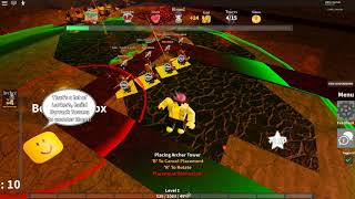 DEFENDING WITH MY ARCHERS IN TOWER DEFENDERS   ROBLOX