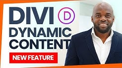 Divi Feature - Divi Dynamic Content