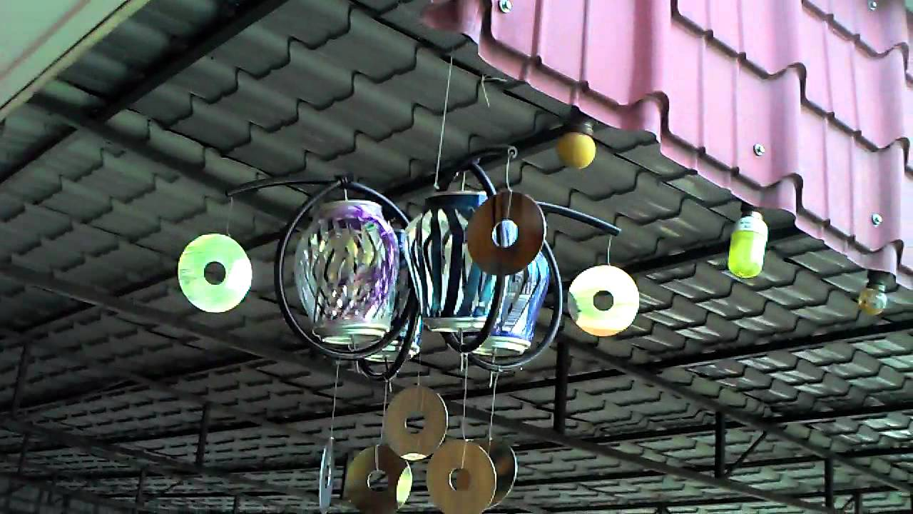 recycled soda can wind spinner - YouTube