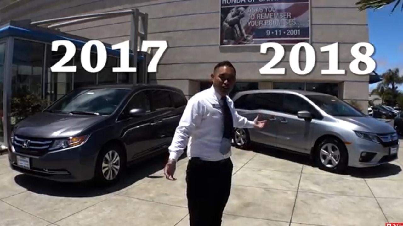 2017 Vs 2018 Honda Odyssey Comparison🚘🚐👪👫  0