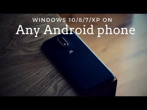 Install & Run microsoft Windows 10/8/7/XP on Any Android Phone without root 2018 | Sharvin Shah