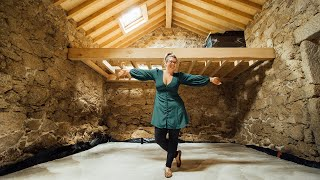 Laying a CONCRETE Floor in our Tiny Home! Life Off-Grid in Portugal