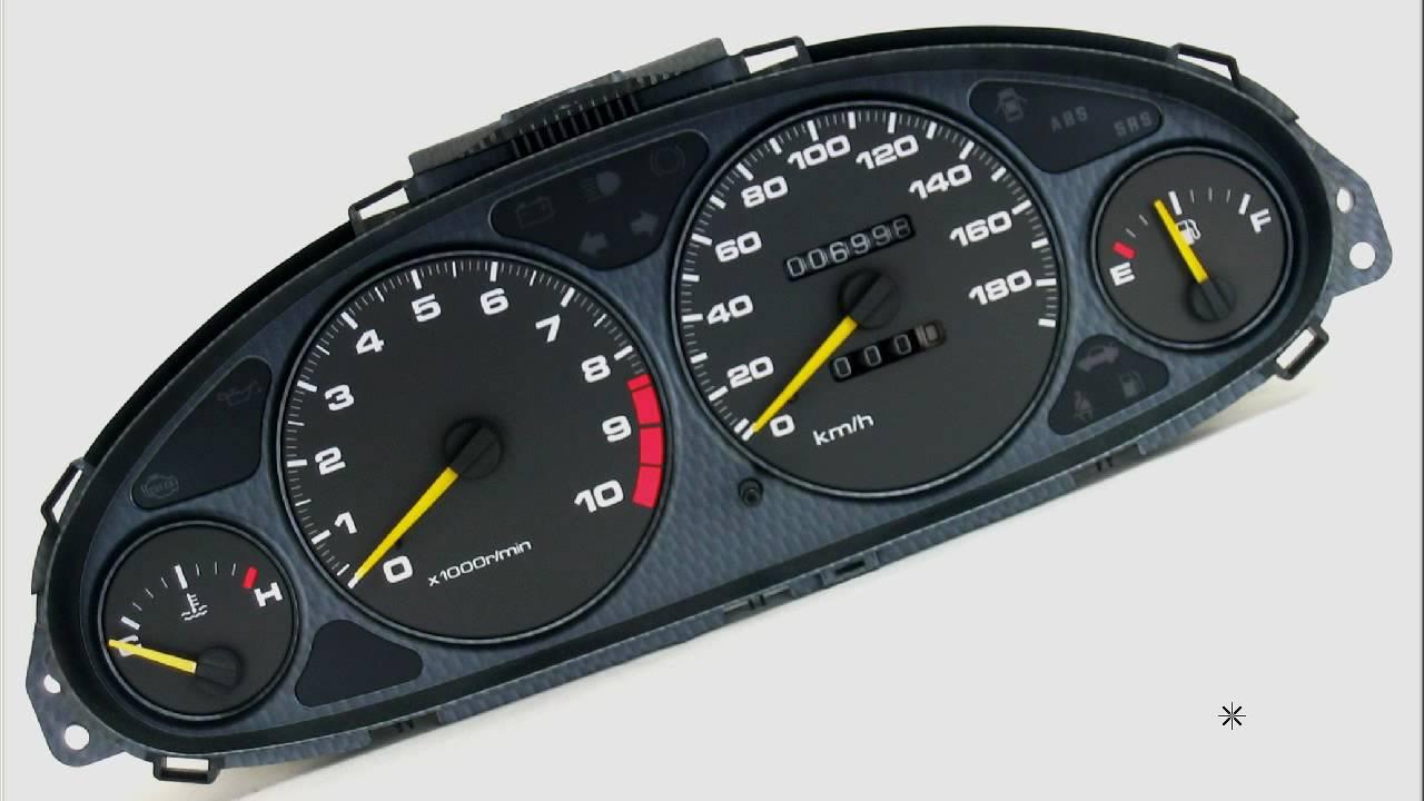 ITR Carbon Gauge cluster Honda JDM INTEGRA DC2 DB8 Type R * ABS * SRS * - YouTube