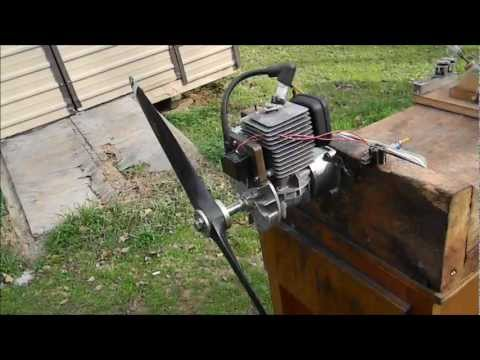 Zenoah G38 RC engine running!