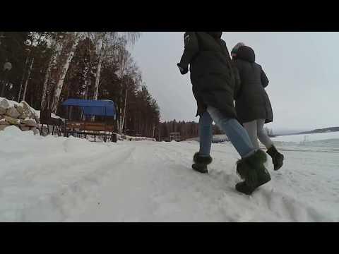 """Парк-отель """"Юность"""" 1 января 2018 года. Озеро Чебаркуль"""