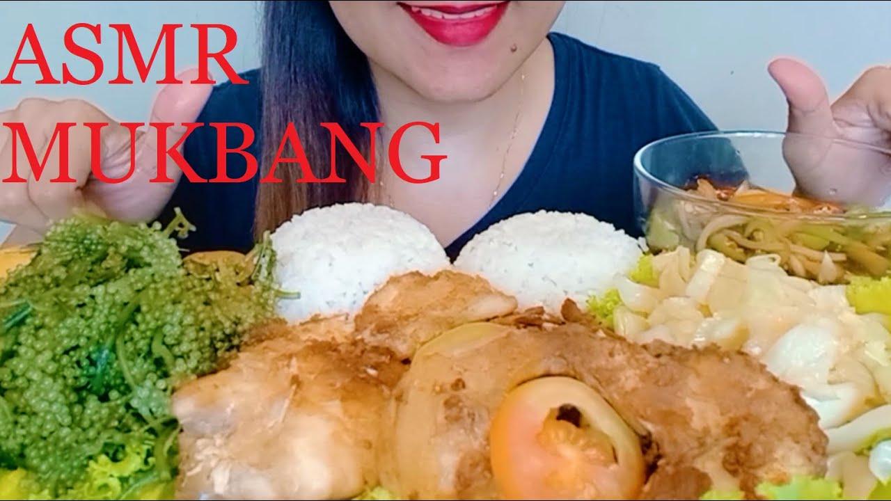 ASMR MUKBANG FRIED FISH MAYA MAYA + LATO+ GINISANG REPOLYO   EATING SHOW   NO TALKING