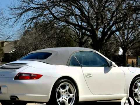 2006 Porsche 911 2dr Cabriolet Carrera Navigation White Automatic