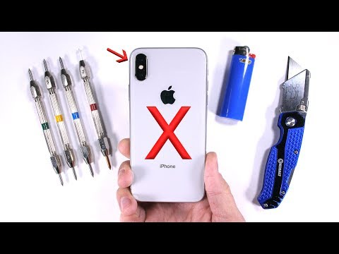 iPhone X Durability Test - Scratch BURN and Bend TESTED!