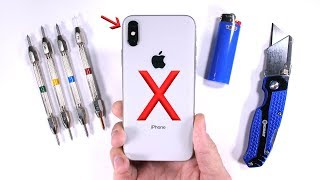 iPhone X Durability Test - Scratch BURN and Bend TESTED! thumbnail