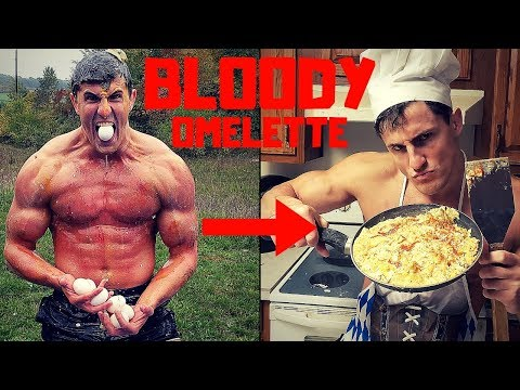 Shot with EGGS until I BLEED then cooking a OMELETTE | Bodybuilder VS Egg Damage Test