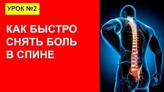 Урок 2. Как быстро снять боль в спине, пояснице, аппликатор кузнецова!