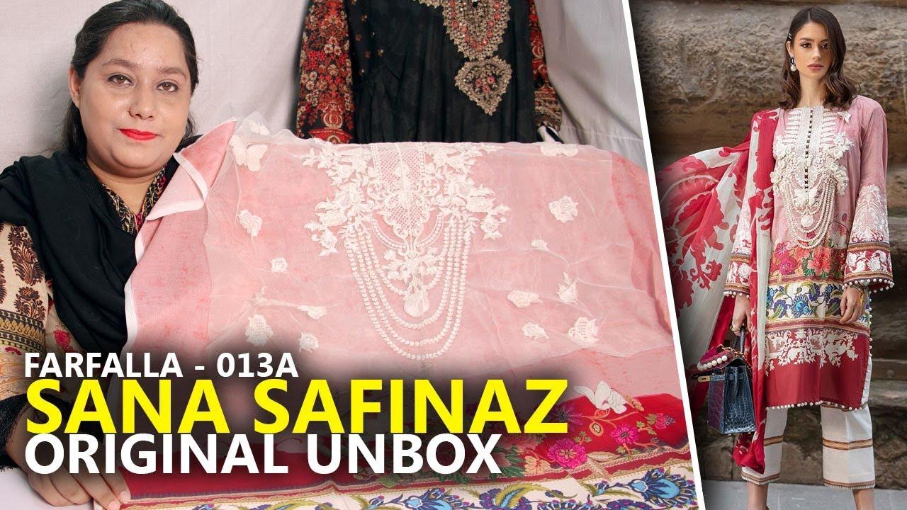 4eb48aa7ac Sana Safinaz Lawn 2019 - Unbox Farfalia 013A - Sara Clothes Try on Haul