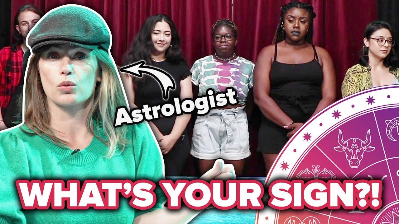 Астролог се обидува да ги погоди хороскопските знаци на странци