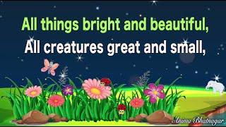 All Things Bright Aฑd Beautiful With Lyrics   Morning Prayer