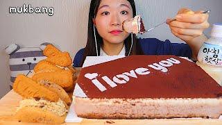 MUKBANG 커피향 가득 티라미수 케이크와 로투스 모카오믈렛 디저트 먹방 TIRAMISU CAKE LOTUS Dessert asmr ティラミスケーキ eating show