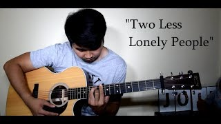 Air Supply/KZ Tandingan - Two Less Lonely People (Fingerstyle) KARAOKE | INSTRUMENTAL ACOUSTIC