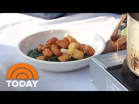 Chef Gavin Kaysen Makes Spinach With Fried Cheese Curds At The Minnesota State Fair | TODAY