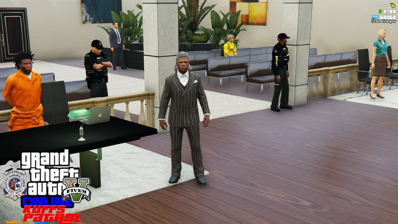 GTA 5 Roleplay #367 Court House Knockout - KUFFS FiveM