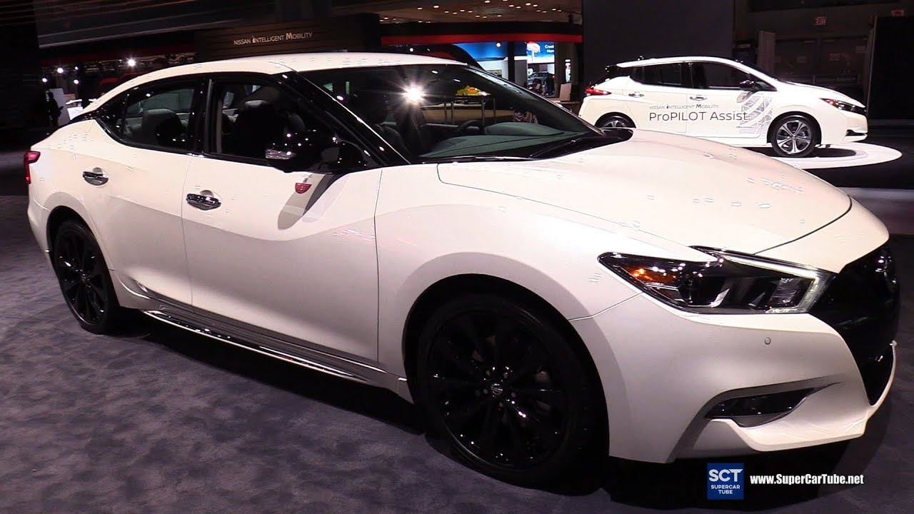 2019 Nissan Maxima Midnight Editon Exterior And Interior Walkaround 2018 New York Auto Show