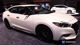 2019 Nissan Maxima Midnight Editon - Exterior and Interior Walkaround - 2018 New York Auto Show