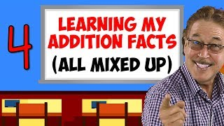 Learning My Addition Facts (All Mixed Up) | Addition Facts for 4 | Jack Hartmann