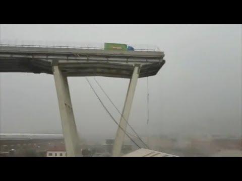 Ahora en DF: Mira el derrumbe de un puente en Génova, Italia