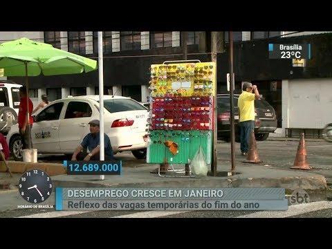 Desemprego no Brasil atinge mais de 12 milhões de pessoas | SBT Brasil (28/02/18)