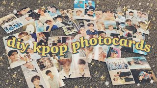 how to make diy kpop photocards ☁️ 5 methods, cheap + easy