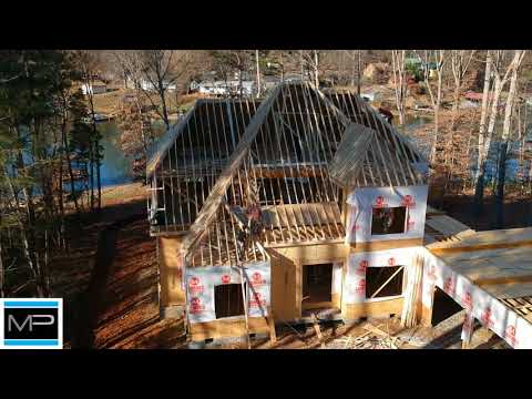 Aerial update: Johnson Residence/ Mike Palmer Homes Denver NC Home Builder