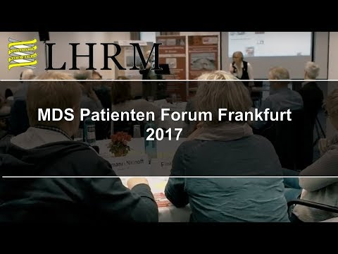 MDS Patienten-Forum am 28.10.17 in Frankfurt