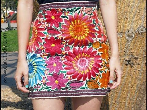 b2ca473d5 DIY falda mexicana espectacular!! - YouTube